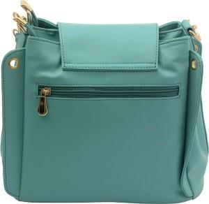 Deniza Women Green Leatherette Sling Bag Best Price in India ... 0c624fd81ea78