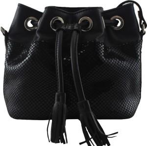 f5acc16384df La Roma Women Black Genuine Leather Sling Bag Best Price in India ...
