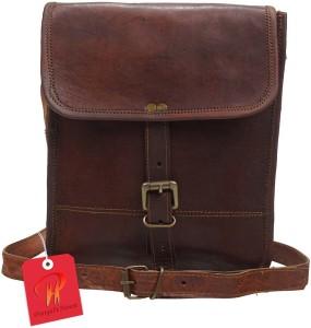 fd3638374c Pranjals House Men Women Brown Genuine Leather Messenger Bag Best Price in  India