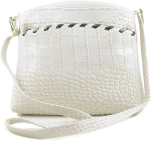 ee87e73e2d Voaka Women White Leatherette Sling Bag Best Price in India