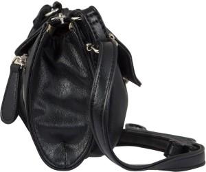 0877d21d6a Lavie Women Black PU Sling Bag Best Price in India
