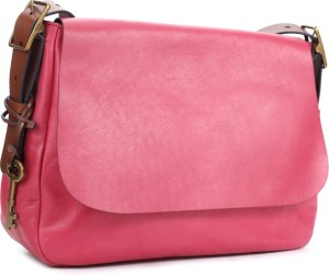 5692a1fe3 Fossil Women Pink Genuine Leather Sling Bag Best Price in India ...
