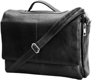HugMe.fashion Men & Women Black, Brown Genuine Leather Sling Bag