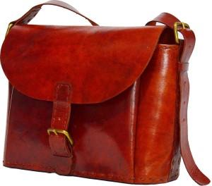 Craft World Women Red Leatherette Sling Bag