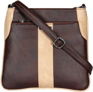 Esbeda Women Brown Leatherette Sling Bag