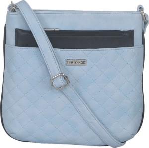Esbeda Women Blue Leatherette Sling Bag