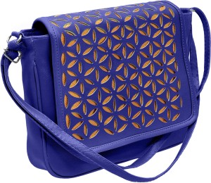 Tap Fashion Girls Blue PU Sling Bag Best Price in India  384fe5719e9d9