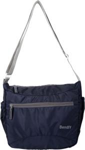 Bendly Men & Women Casual Blue Nylon Sling Bag