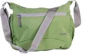 Bendly Men Casual Green Polyester Sling Bag