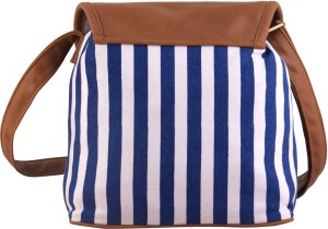 663ba48c4aa8 Lychee Bags Women Blue Canvas Sling Bag Best Price in India