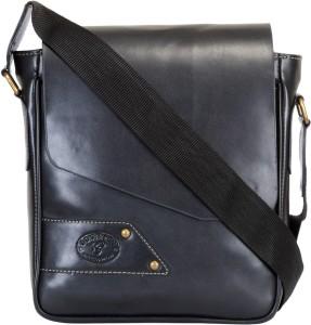 42f8274a34 Contrast Men Black PU Messenger Bag Best Price in India