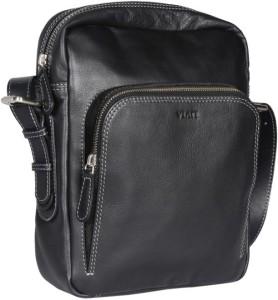Viari Men Casual Black Genuine Leather Messenger Bag Best Price in India  a17faa0d52330