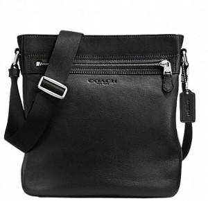 Coach Women Black Genuine Leather Sling Bag