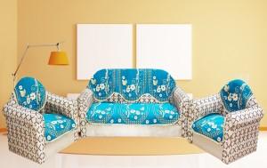 Mangal Velvet Sofa Cover sky blue Pack of 6 Best Price in India ...