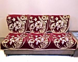 1065f79e1ee SHC Velvet Sofa Cover Maroon Pack of 12 Best Price in India