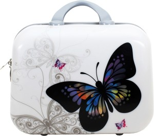 Styler White Butterfly Print Small Travel Bag  - Medium