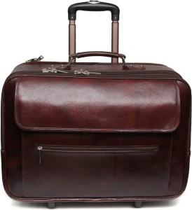 C Comfort Genuine Leather Expandable Small Travel Bag  - Medium