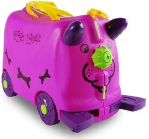 Toys Bhoomi Kids Mini Trunk Ride and Roll Suit Case Luggage (4 Designs) Small Travel Bag