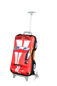 T-Bags 3D Hunter Car Red Kid's Trolley Small Travel Bag  - Small