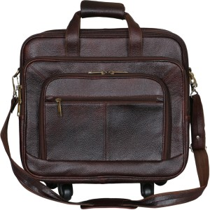 LEATHER COLLECTION LC_0055_BROWN Small Travel Bag