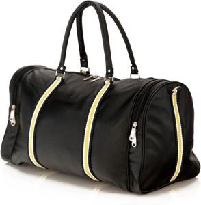 Mboss Faux leather Unisex Round Black Multi Small Travel Bag  - Medium