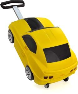 Ridaz Kids Pull Along Cheverolet Camaro Bag- Yellow Small Travel Bag