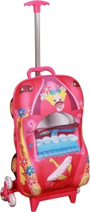 T-Bags 3D Car Princess Children's Trolley Small Travel Bag  - Small