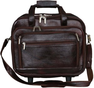 LEATHER COLLECTION LC_0053_BROWN Small Travel Bag