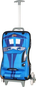 T-Bags 3D Hunter Blue Kid's Trolley Small Travel Bag  - Small