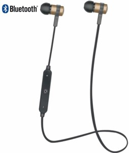 Flipfit Bluetooth Wireless Handfree, Headset, Earphones, Ear Leads, Bluetooth Wireless Earphones, Handsfree (Black) Wireless bluetooth Headphones