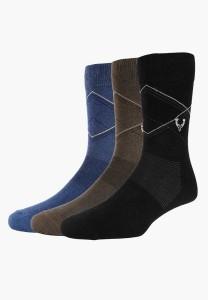 Allen Solly Men's Self Design Mid-calf Length Socks