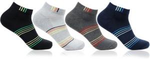 Bonjour Men's Striped Footie Socks