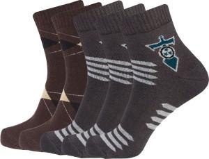 Ultimate Men's Self Design Ankle Length Socks