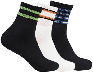 Supersox Men's Striped Ankle Length Socks