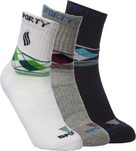 Ultimate Men's Geometric Print Ankle Length Socks