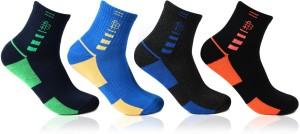 Bonjour Sports Men's Self Design Ankle Length Socks