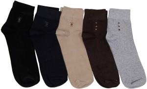 Mikado Men's Embellished Ankle Length Socks