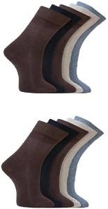 Oshop Trades Men's Self Design Mid-calf Length Socks
