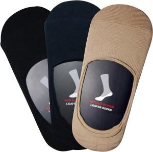 Balenzia Men's Solid No Show Socks