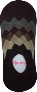 Miscreef Men's Geometric Print No Show Socks