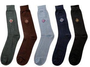 Mikado Embellished Men's Embellished Crew Length Socks