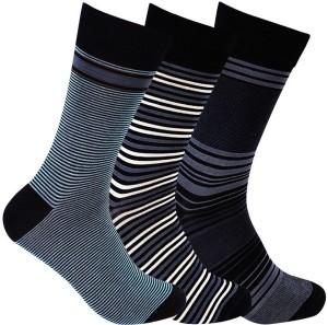 Supersox Men's Striped Crew Length Socks