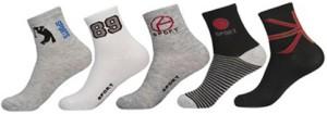 Khi Men's Printed Ankle Length Socks