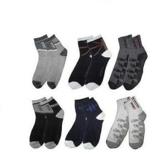 Killys Men's Printed Ankle Length Socks