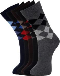 Vinenzia Men's Checkered Crew Length Socks