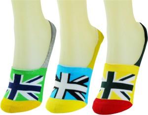 Neska Moda Men & Women Geometric Print No Show Socks