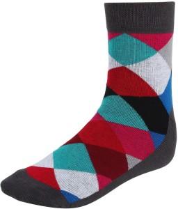 Eccellente Men's Self Design Ankle Length Socks