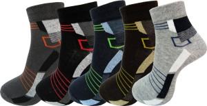Rc. Royal Class Men's Self Design Ankle Length Socks