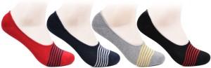 Bonjour Men's Striped No Show Socks
