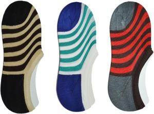 ME Stores Men's Striped No Show Socks